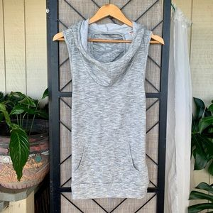 Missimo Grey Exercise Cut Out Back Tank Large